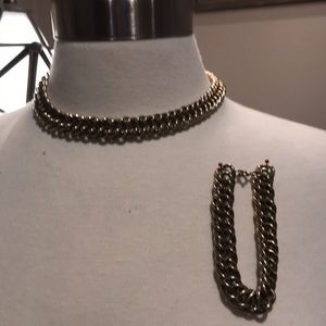 Gold link chain set